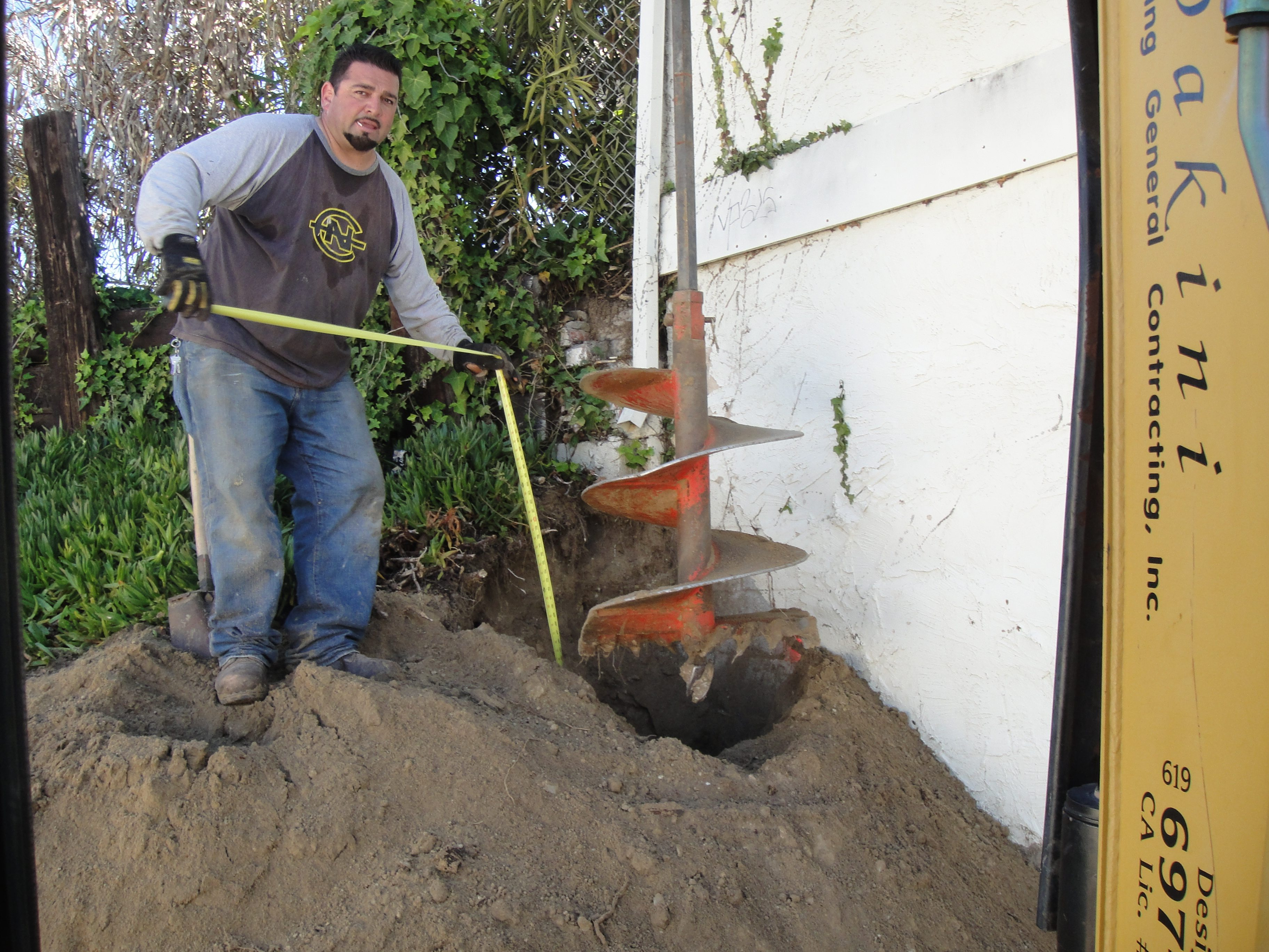 drilling cassions to repair foundation - Oceanside