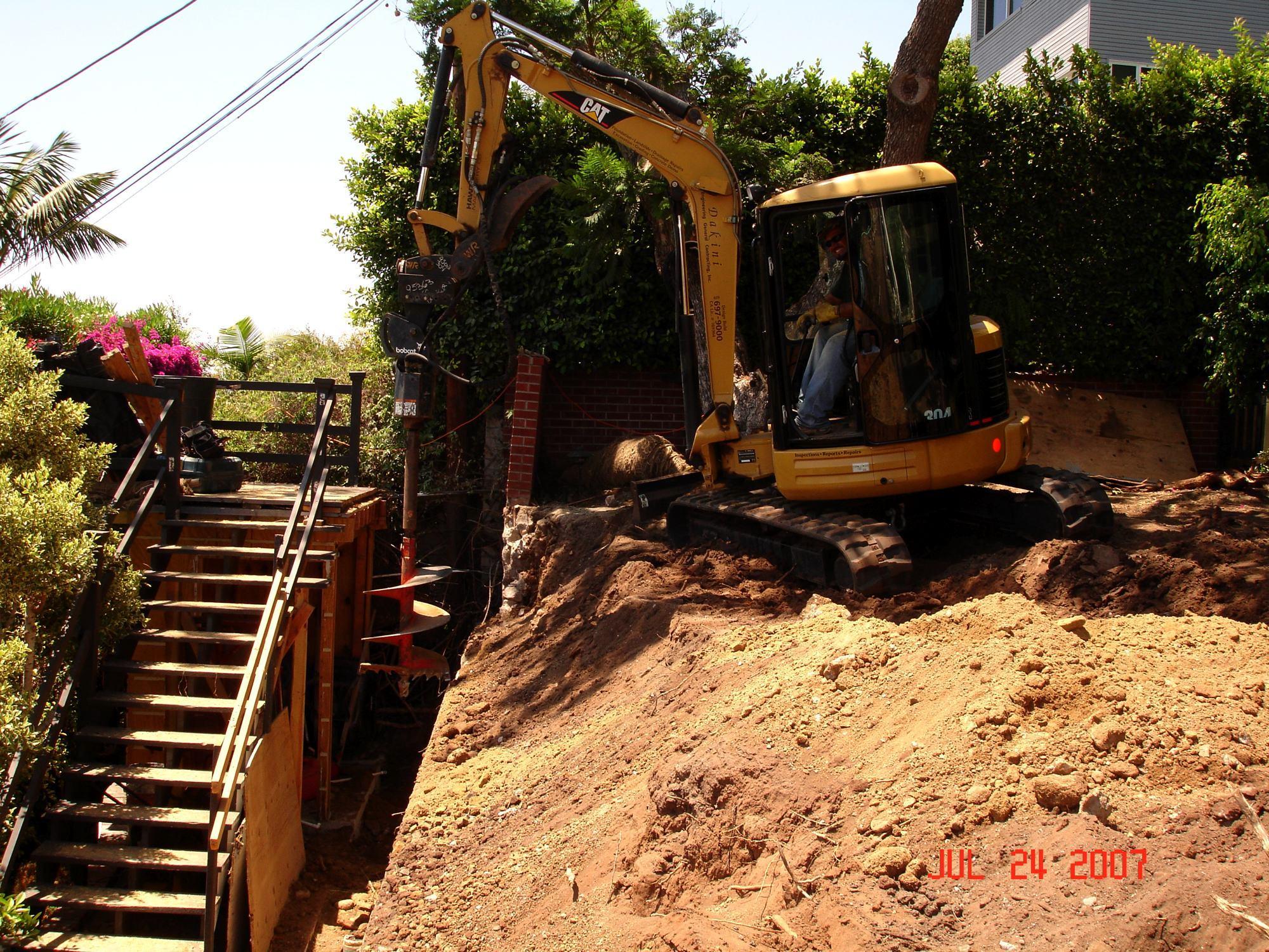 Driling Caissons DSC01953-Landslide Repair Mission Hills