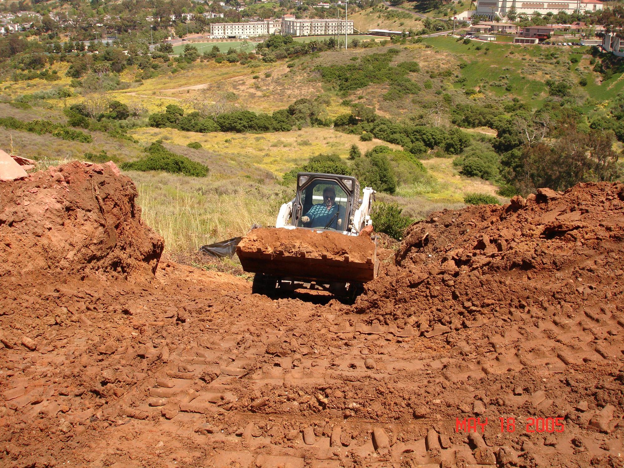Hill Side T-190 on HIll side-Bay Park Landslide repair