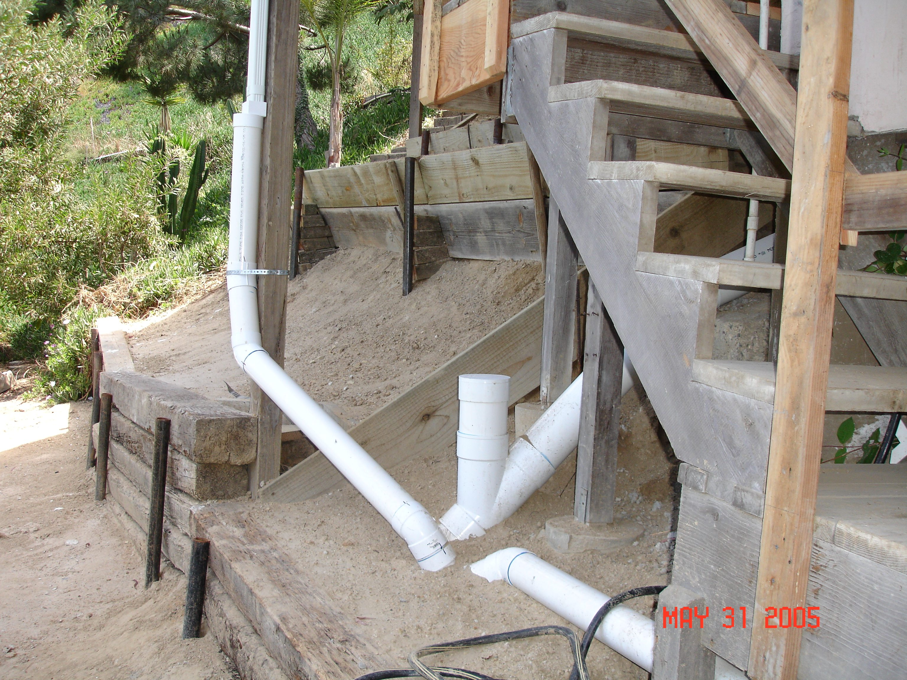 hillside drainage system
