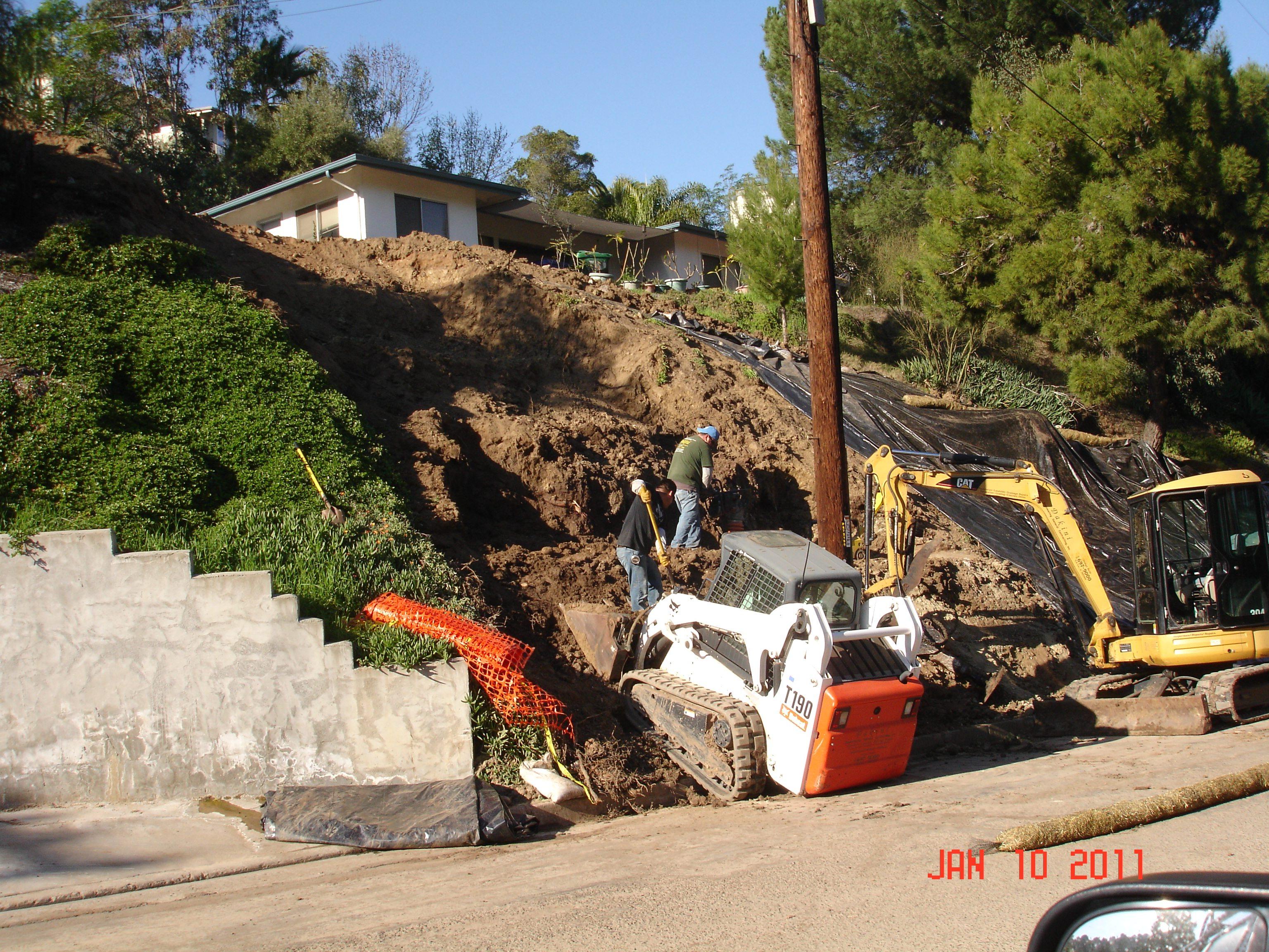 landslide repair el cajon